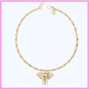 "LILLY PULITZER | ""Glam"" Gold Elephant Choker"
